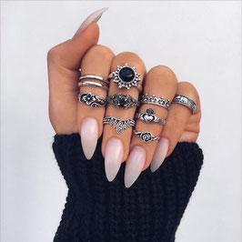 Ring Set Black Sun
