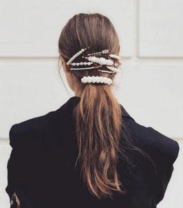 Haarklammern Gold Pearls
