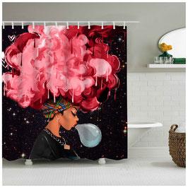 Duschvorhang Red Afro