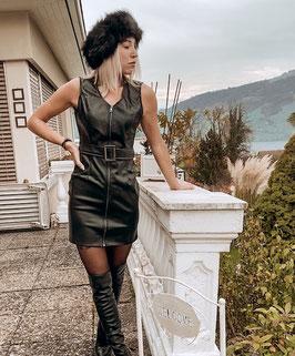 Kunstleder Kleid Alexa