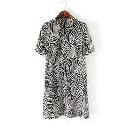 Blusen Kleid Zebra