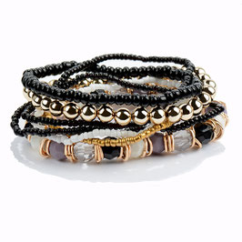 Armband Set Black Pearl
