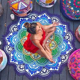 Strandtuch Purple Mandala Zotteln
