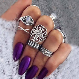 Ring Set Flower Vibes