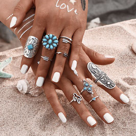 Ring Set Flor de Cactus