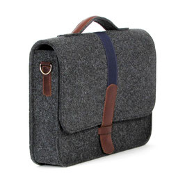 Office-Bag anthrazit/blau
