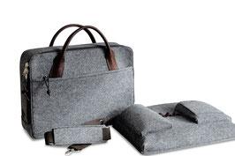 """Laptop-Tasche mit Zipp, herausnehmbares Laptop-Fach 15-17"""""""