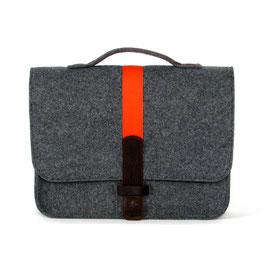 Office-Bag dkl.-grau/orange
