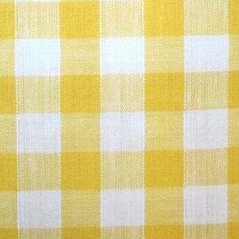 Coton carreaux 9x9 mm blanc jaune