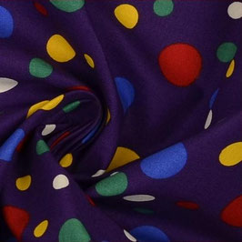Coton violet pois fantaisie