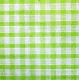Coton carreaux 3x3 mm blanc vert pomme