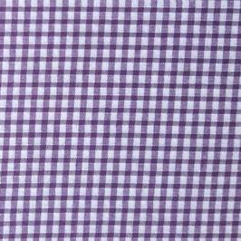 Coton carreaux 3x3 mm blanc violet