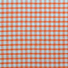 Coton carreaux 3x3 mm blanc orange sanguine