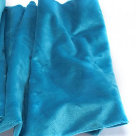 Minky lisse turquoise