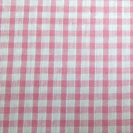 Coton carreaux 3x3 mm blanc rose