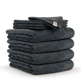 Handdoekenset 60 x 110cm + washandjes Antraciet
