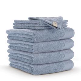Handdoekenset 60 x 110cm + washandjes Blauw