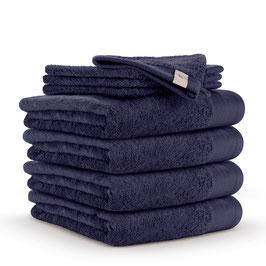 Handdoekenset 60 x 110cm + washandjes Navy Blauw