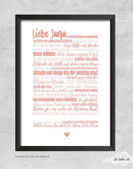 "Print ""Taufe"" 21 x 29,7 cm"