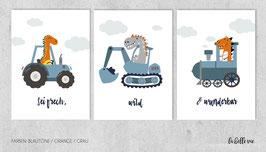 "Prints ""Dino Fahrzeuge"""
