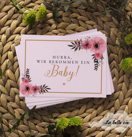 "30 Meilensteinkarten floral ""Schwangerschaft"""