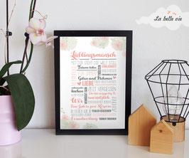 """Print """"Lieblingsmensch"""" 21 x 29,7 cm"""