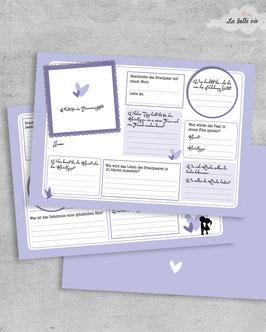 """10 Gästebuchkarten """"flieder"""" 21 x 14,8 cm"""