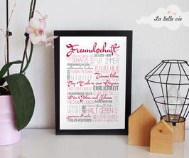 """Print """"Freundschaft"""" 21 x 29,7 cm"""