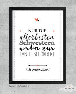 """Print """"allerbesten Schwestern"""""""