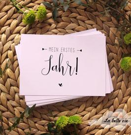 """30 Meilensteinkarten Typo """"Mein erstes Jahr"""""""