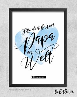 "Print ""Bester Papa"" 21 x 29,7 cm"