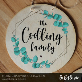 "Holzschild ""Familie ..."" 20 cm"