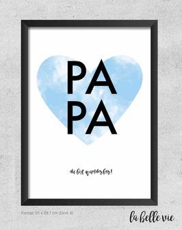 """Print """"PAPA"""" 21 x 29,7 cm"""