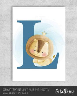 "Print ""Initialie mit Motiv"" 21 x 29,7 cm"