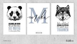 """Prints """"Panda & Wolf"""""""