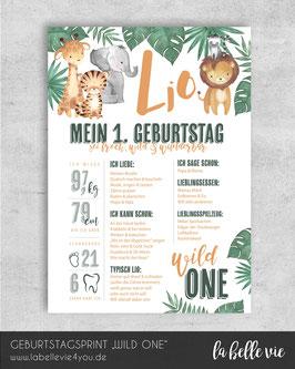 """Meilensteintafel """"WILD ONE"""""""