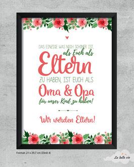 """Print """"Großeltern floral"""""""