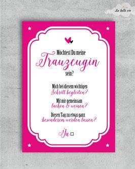 """Karte """"Trauzeugin"""" 10,5 x 14,8 cm"""