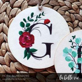 "Holzschild ""Blumenranke""  (10 cm)"