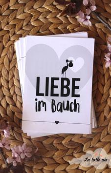 """40 Meilensteinkarten """"Liebe im Bauch - für die Schwangerschaft"""" 10,5 x 14,8 cm"""