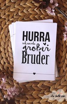 """10 Meilensteinkarten """"Ich werde großer Bruder"""""""