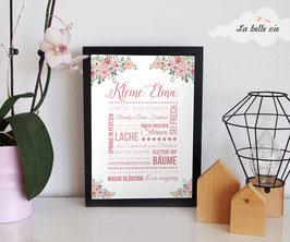 "Print ""Kleine ... floral"" 21 x 29,7 cm"