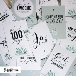 """35 Meilensteinkarten """"Hochzeitsvorbereitung"""""""