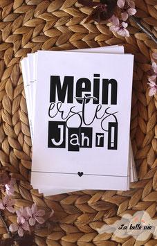 """30 Meilensteinkarten """"Mein erstes Jahr"""""""