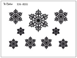 Snowflake Mandala - The Rainbow Siebdruck REG
