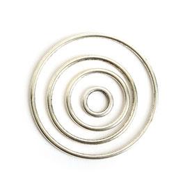 Offene Kreis Kombi Packung - Antikes Silber