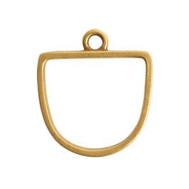 Offene Anhänger Halb Oval - 1 Öse -   Antik Gold