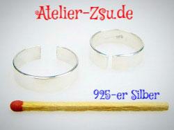 Fingerring - Ringrohling - Ringschiene - 925-er Silber - verstellbar - 1 Stück