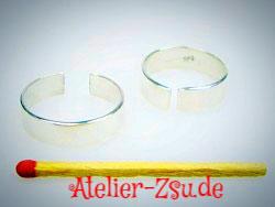 Fingerring - versilbert - verstellbar - 1 Stück