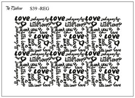 Love You - The Rainbow Siebdruck REG